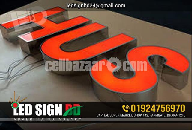 Acrylic Bata Module Top High Letter, SS High Letter & LED in Other - 1/4
