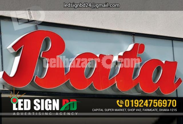 Acrylic Bata Module Top High Letter, SS High Letter & LED in Other - 3/4