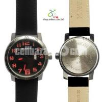 Curren 8254 Black Dialer With Black Belt Watch