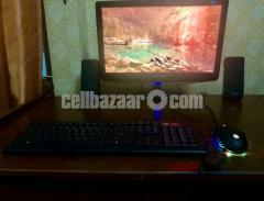 Desktop with monitor