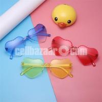 Kids Love Heart Rimless Sunglasses with Case Box