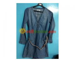 Ladies Long Denim Tunic