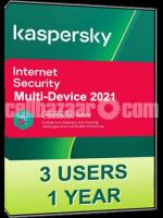 Kaspersky Genuine Internet Security Latest Version- 3 Users (1 Year)
