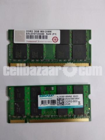 2 pcs 2 GB DDR2 Laptop RAM - 1/3
