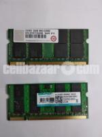 2 pcs 2 GB DDR2 Laptop RAM