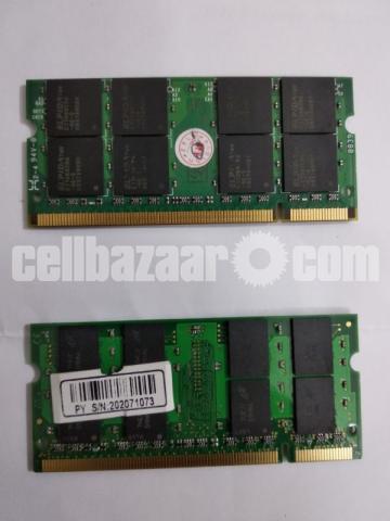 2 pcs 2 GB DDR2 Laptop RAM - 2/3