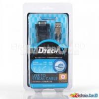 DTECH Geunine USB to Serial Adapter Cable with RS232 DB9 Male
