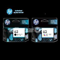 HP Original 63 Ink Cartridges Black Tri-color, 2 Cartridges - Image 1/10