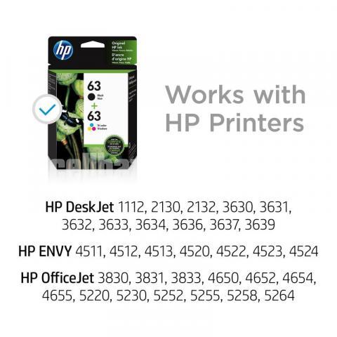 HP Original 63 Ink Cartridges Black Tri-color, 2 Cartridges - 3/10