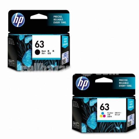 HP Original 63 Ink Cartridges Black Tri-color, 2 Cartridges - 5/10