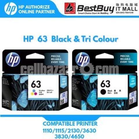 HP Original 63 Ink Cartridges Black Tri-color, 2 Cartridges - 8/10
