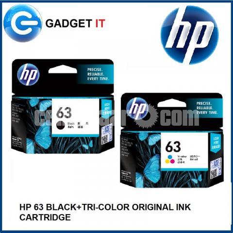 HP Original 63 Ink Cartridges Black Tri-color, 2 Cartridges - 9/10
