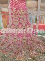 Indian Bridal Georgette Lehenga with Stoned Karchupi@12000/-