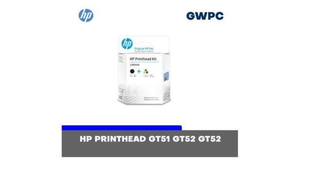 HP GT51-GT52 Combo Black & Tri-color Printhead Replacement Kit - 8/10