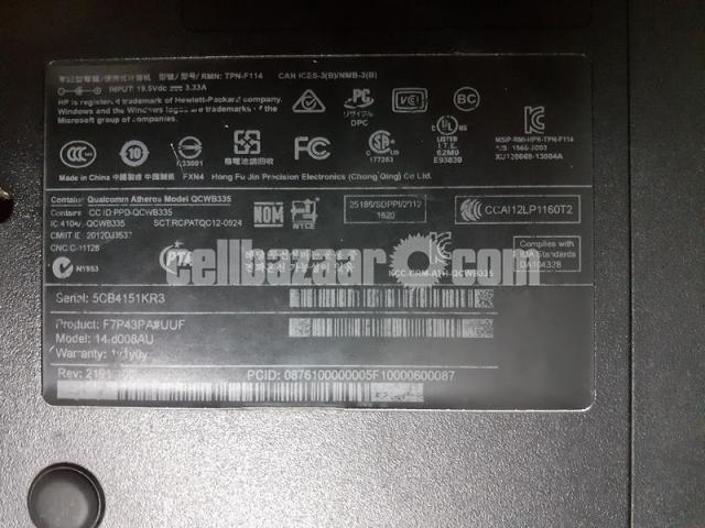 HP 14-d008au Notebook laptop with 4 gb ram and fast processor(dual core E1 2100APU).Screen -14 inch - 6/7