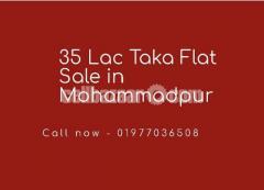 35 Lac taka Ready Flat Sale In Mohammadpur
