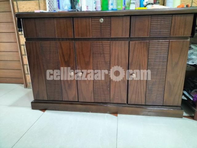 Wooden Woven side table - 1/1