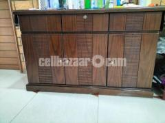 Wooden Woven side table