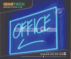 Custom Led Neon Sign & Customized Acrylic Led Lighting Illuminated Sign Neon Flex With Led