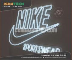 Customized Advertising Lc Sign Acrylic Rgb Led Neon Lighting Letter & Glass Tube Custom