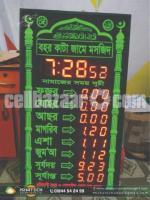 Clock LED Display & LED Module Digital Clock Display with RGB Full Color Clock LED Display