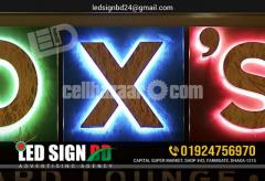 Neon letter design, stylish & beautiful. In LED SIGN BD