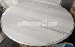 Italian Coral Stone রত্ন শ্বেত প্রবাল Pathorer dining table