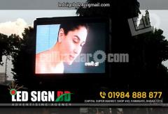 P10 Moving Display Board with Neon Signage & Neon Lighting