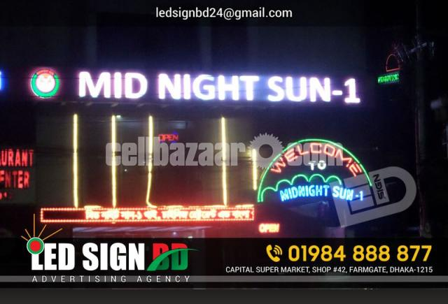 LED Sign Acrylic Letter & p10 Moving Display Board - 3/4