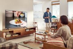 65 inch SAMSUNG AU7700 VOICE CONTROL CRYSTAL 4K HDR TV