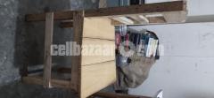 A wooden chair is to be sold