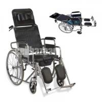 Sleeping Position Commode Wheelchair