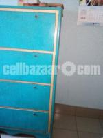 Steel Wardrobe made of Mat sheet (no MS sheet used). Extremely heavy & strong.