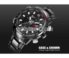 NAVIFORCE Luxury Brand Men Military Sport Watches Men's Digital Quartz Clock Full Steel Waterproof