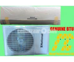 NATIONAL 1 TON SPLIT AC with copper pipe MALAYSIA