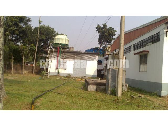 5.5 bigha land with factory setup at mawna - 4/5