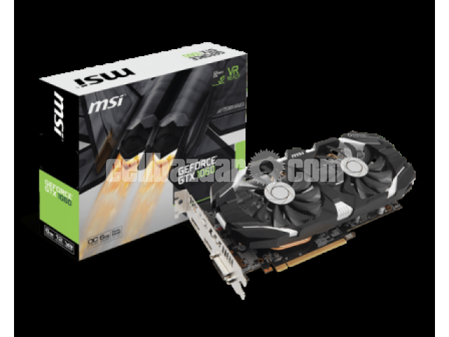 MSI GTX 1060 6GT OC, 6GB GDDR5 (192-bit), Boost Clock - 1/1