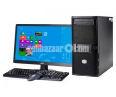 """Intel Core 2 Duo+500GB HDD+RAM 2 GB with 17"""" LED"""