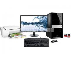 """Intel Core 2 Duo+1000GB HDD+RAM 2 GB with 17"""" LED"""