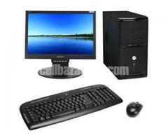 "Brand New Desktop Core 2 Duo 250GB HDD 2GB RAM 17"" Monitor PC"