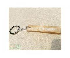 Bamboo Plain Key Ring