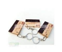Leather Fit Wooden Square Key Ring