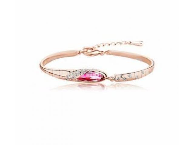 Ladies Crystal Bracelet Color Gold,(3318188.) - 1/1