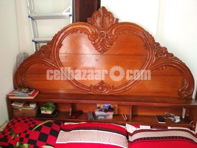 Box bed(7/6'') 1no shegun wood - 1/5