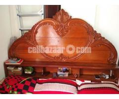 Box bed(7/6'') 1no shegun wood - Image 1/5