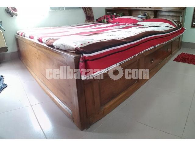Box bed(7/6'') 1no shegun wood - 3/5