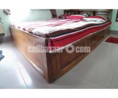 Box bed(7/6'') 1no shegun wood - Image 3/5