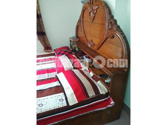 Box bed(7/6'') 1no shegun wood - 4/5