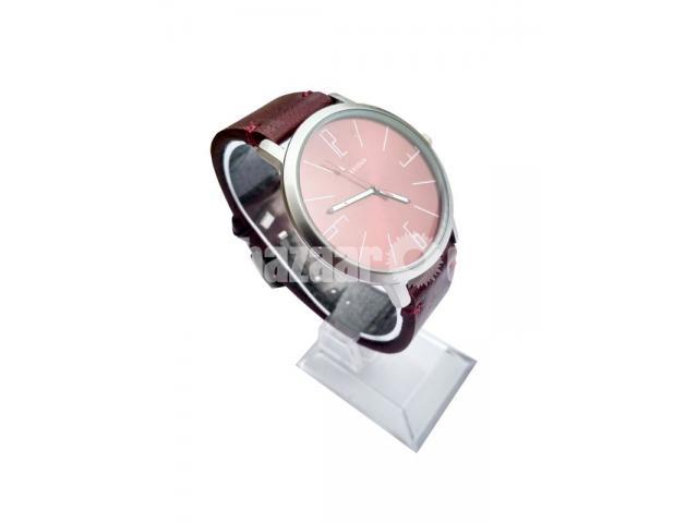 Titan Round Dial Watches Replica copy hand or wrist Strap quartz for men - 1/1
