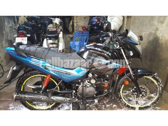 Hero Glamour 125cc -Tecno Blue - 1/1